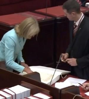 Fiona Patten in parliament