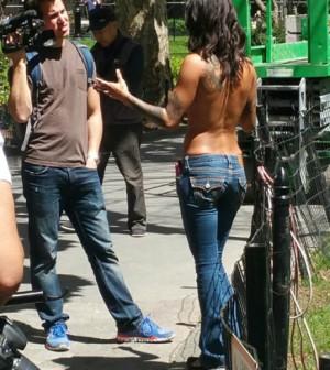 Bonnie topless NYC